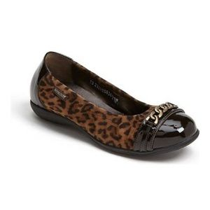 Mephisto Alison leopard ballet flats